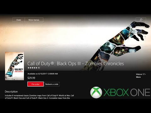 How to Preorder/Predownload Zombies Chronicles On the Xbox One! (Black Ops 3 Zombies)