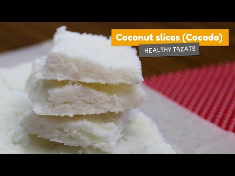 Coconut slices (Brazilian Cocada) • Healthy treats #2