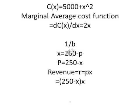 To find the marginal cost function, marginal revenue & break even pt