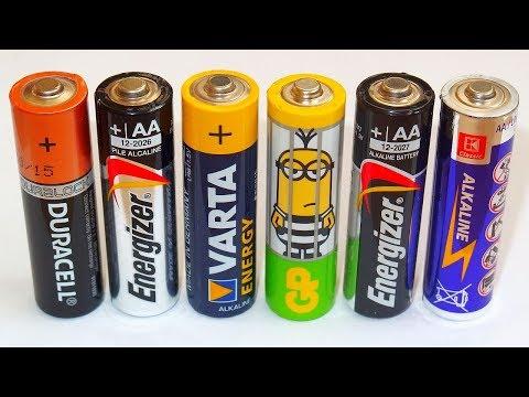 AA Alkaline Battery Capacity Test - Duracell, GP, Varta, Energizer, ...