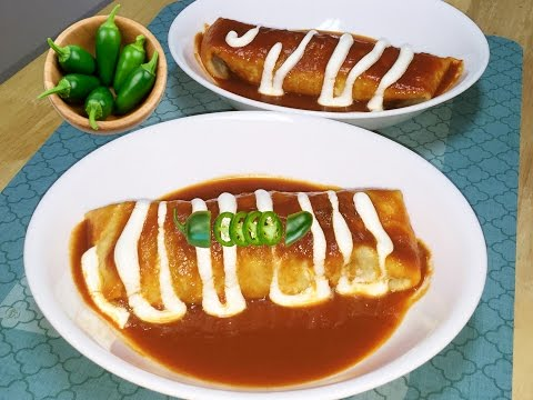 Homemade Sauce Burrito aka Smothered Burrito or Wet Burrito Video Recipe💕👍⭐️⭐️⭐️⭐️⭐️