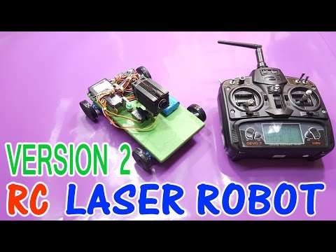 How to make Laser ROBOT Remote Controlled - version2