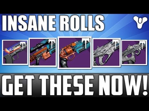 GET THESE WHILE YOU CAN!! Insane Rolls! May 2nd 2017 Vendor Weapon Reset! - Destiny Age Of Triumph