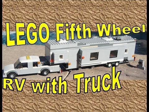 LEGO 5th Wheel RV Trailer/Camper | with Truck | CUSTOM