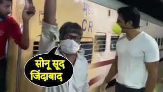 Sonu Sood ARRIVES At Thane STATION To Arrange TRAINS For Migrant Workers In Lockdown