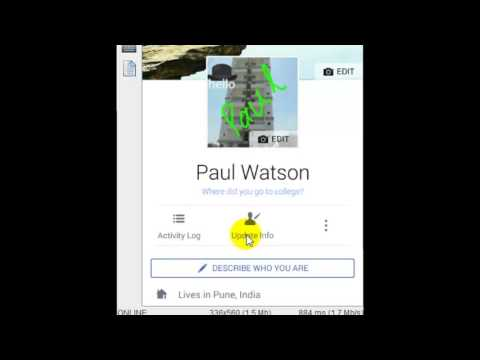 How to edit the phone number in Facebook Android app