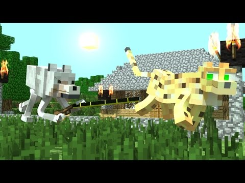 The Adventures of the Wolf and the Ocelot (Minecraft Animation)