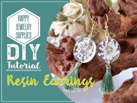 DIY Tutorial-How to make a resin dry flower earrings with tassel!