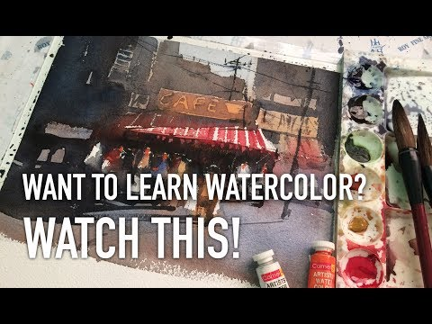 Beginner/semi advance watercolor exercise | Want to learn watercolor? Watch this!