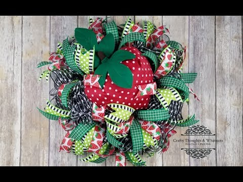 Strawberry Mesh Wreath Ruffle Technique