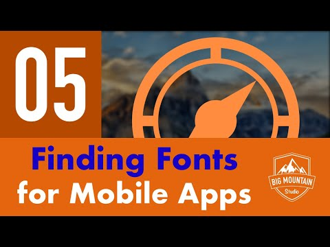 Finding Awesome Fonts for Mobile Apps - Part 5 - Itinerary App