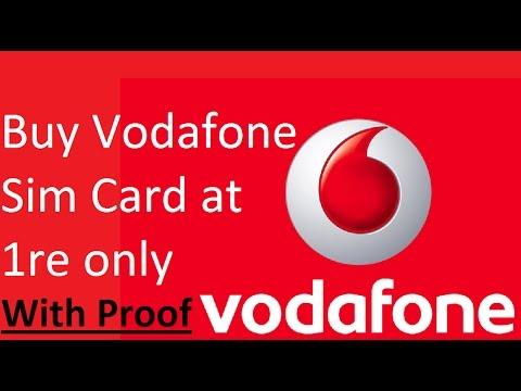 Buy Sim Card at 1Re | Vodafone | Tutorial With Proof