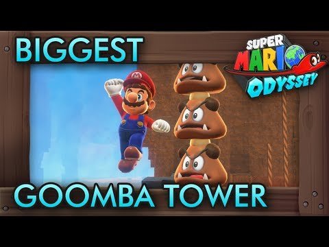 Making the Biggest Goomba Tower in Super Mario Odyssey