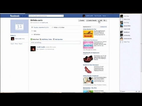 How to Create a Party Flyer on Facebook : Using Facebook