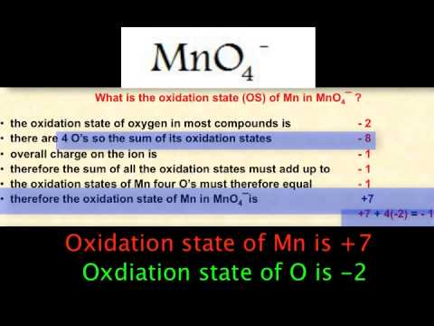 Redox 2- oxidation states in molecules and complex ions