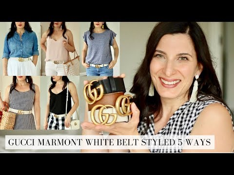 GUCCI MARMONT WHITE BELT - STYLED 5 WAYS