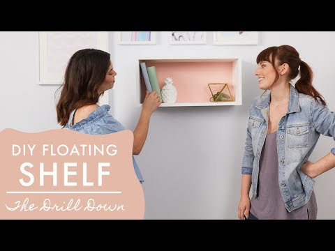 Simple DIY Floating Shelf   The Drill Down with The Sorry Girls