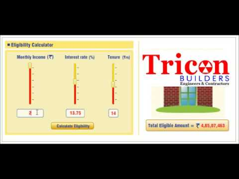 Home Loan Eligibility Calculation Tool Tutorial Video
