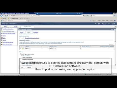IBM Enterprise Records Reports using  Cognos BI