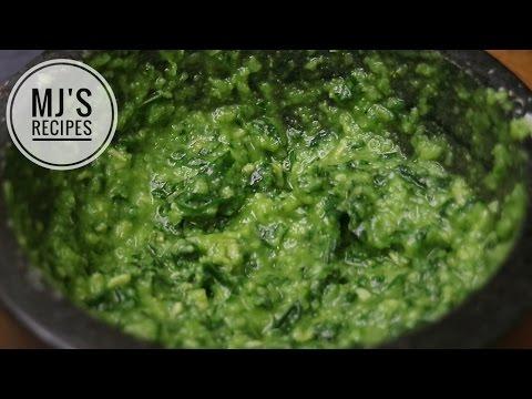 PESTO SAUCE RECIPE | Pesto Genovese using mortar and pestle
