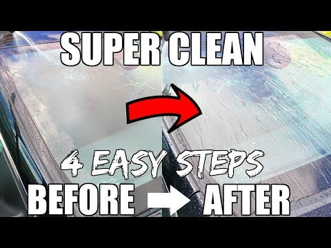 How To Clean Car Windshield Outside In 4 Easy Steps || Car Detailing