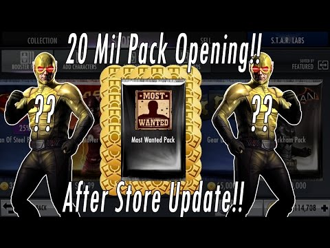 Buying 20 MILLION Credits/Coins NEW Most Wanted, Bleed Out & Justice League Packs -Opening Injustice