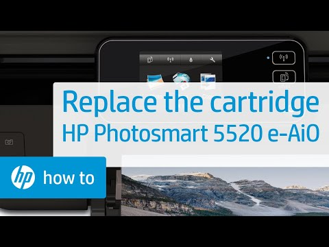 Replacing a Cartridge - HP Photosmart 5520 e-All-in-One Printer