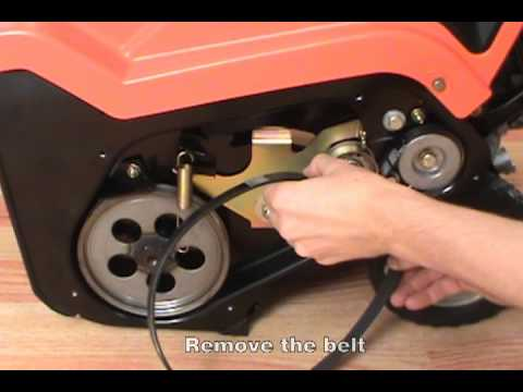 Replacing the Drive Belt - Ariens Path-Pro Snow Blower
