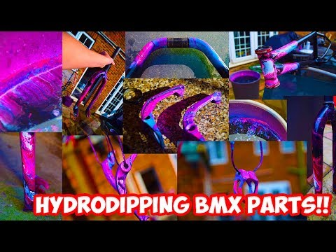 NEON HYDRODIPPING BMX PARTS! *INSANE*