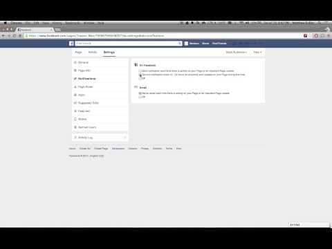 Facebook Pages - How to Disable Notifications