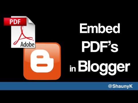Embed PDF files in your blogger blog