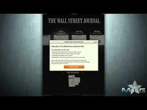 Wall Street Journal iPad App Review