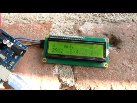 sonar wind speed with HC-04 module