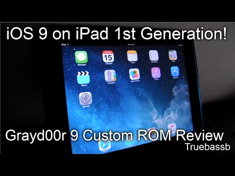 iOS 9 on iPad 1st Gen? Grayd00r 9 Custom ROM Review