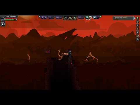 Starbound Volcano Base Creation!