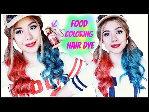 How To Temporary Dye Your Hair Using Food Coloring-Harley Quinn Inspired Hair-Beautyklove