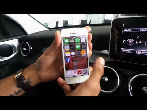 Enabling iPhone to display messages in your Mercedes