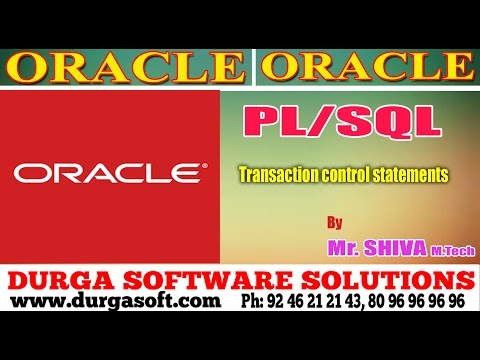 Oracle    Transaction control statements by Siva