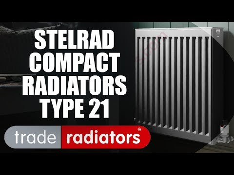 Stelrad Compact Radiator, White, 600mm x 1200mm   Double Panel, Single Convector