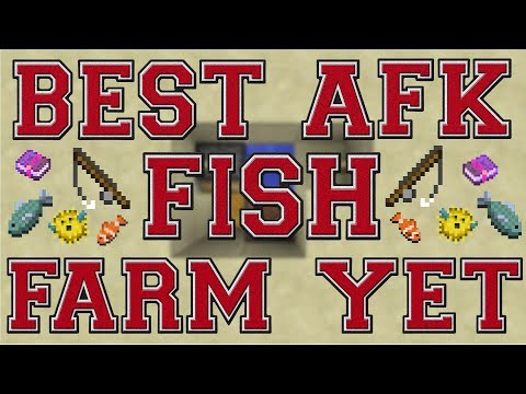BEST AFK FISH FARM YET! HOW TO BUILD! MINECRAFT PS3-PS4-XBOX 360-XBOX ONE-PC!