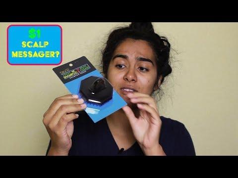 $1 SCALP MASSAGER/SHAMPOO BRUSH | Curly Hair Mondays