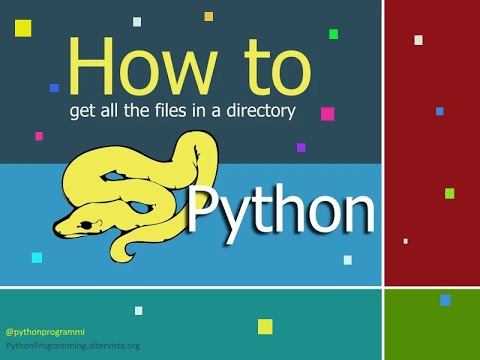Python: how to get a list of file in a directory