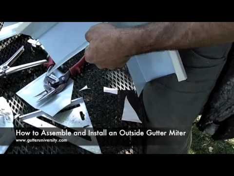How to Assemble and Install an Outside Gutter Miter