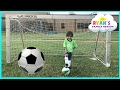 Family Fun Kids Outdoor Activities Ryan First Soccer Practice And First Game Highlights