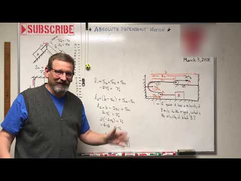 Dynamics - Lesson 11: Absolute Dependent Motion of Two Particles