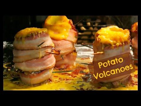 How to Make a Potato Volcano - BBQ Baked Bacon Wrapped Volcano Potato