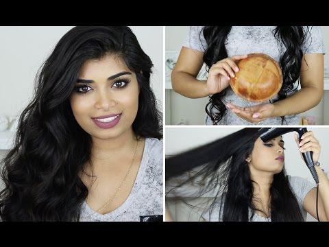 HOW TO: Coconut Oil Hair Treatment + My Blow-dry Routine | Zaahirah Munif