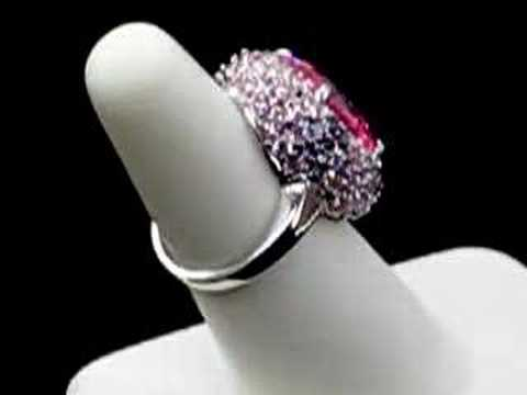 New 14K White Gold Mother's Day Ring Pink Diamond On eBay