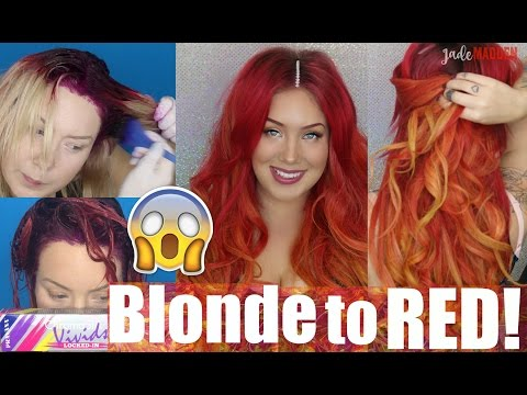 HOW TO - Fire Phoenix Hair Color | FROM BLONDE TO RED!  | Jade Madden