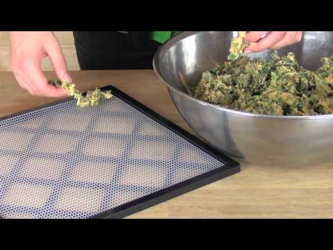 Cheesy Kale Chips Dried in the Excalibur Food Dehydrator